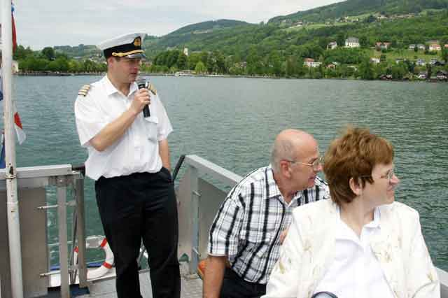 Franz Meindl is the captain of the boat